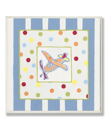 Plane Polka Dot & Stripe Wall Art