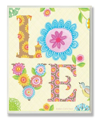 Floral 'Love' Wall Art