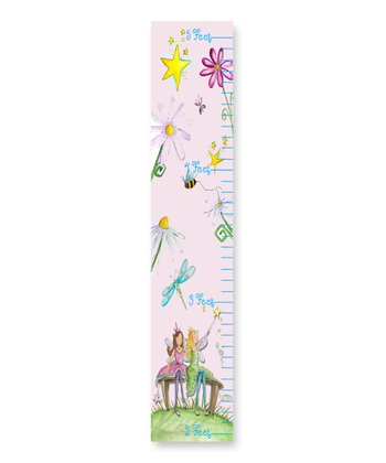 Fairy Floral Pink Growth Chart