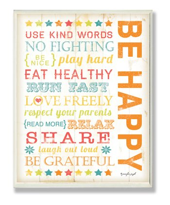 'Be Happy' Wall Art