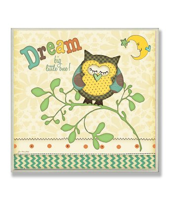 'Dream' Owl Wall Art