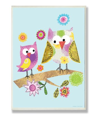 Whimsical Owls Wall Art