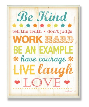 'Be Kind, Tell the Truth' Wall Art