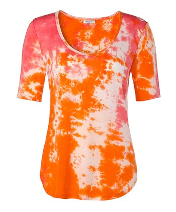 Orange & Pink Starburst Top