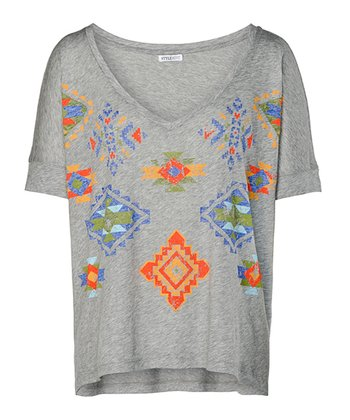Heather Gray Jasper Tee - Women