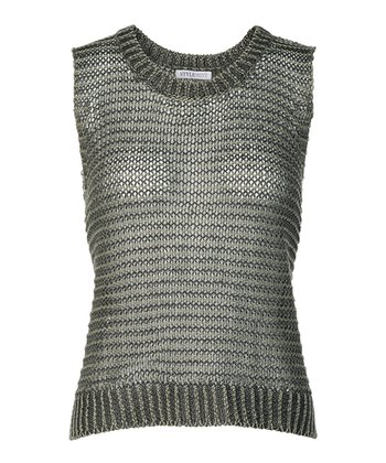 Green Baxter Sleeveless Sweater - Women