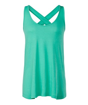 Mint Leaf Harlow Cross-Back Tank - Women
