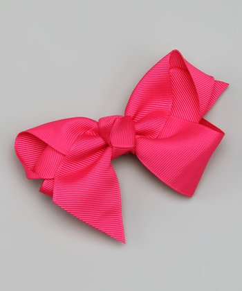 Hot Pink Chunky Bow