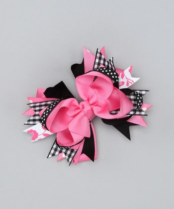 Hot Pink Fashion Bow Clip