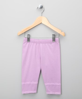 Lilac Lace Leggings - Infant, Toddler & Girls