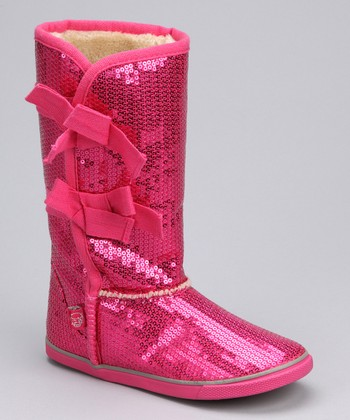 Pink Sequin Boot