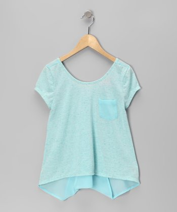 Mint Cross-Back Top