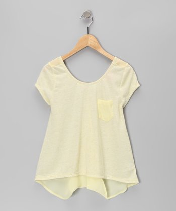 Yellow Cross-Back Top