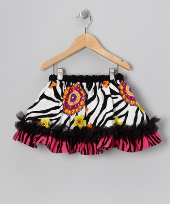 Pink Zebra Ruffle Skirt - Infant, Toddler & Girls
