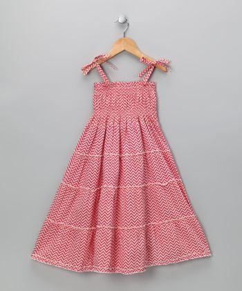 Sugar Pink Zigzag Dress - Girls