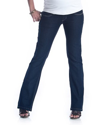 Dark Denim Bootcut Maternity Jeans
