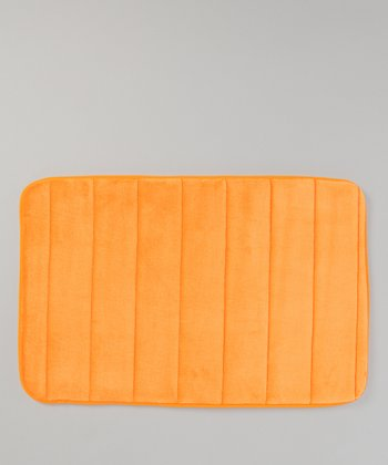 Orange Microfiber Bath Mat