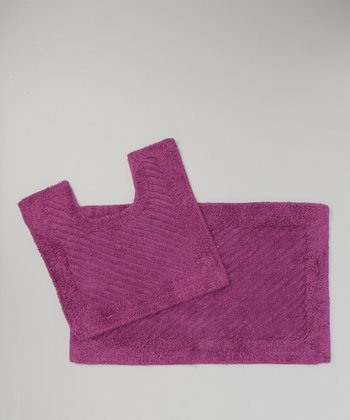 Purple Bath Mat Set