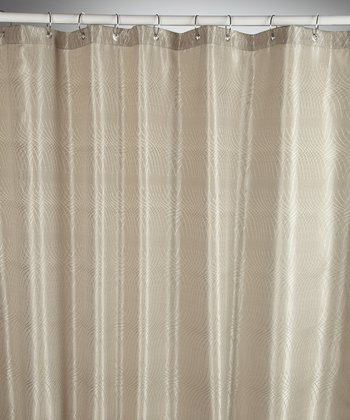 Taupe Jacquard Swirl Shower Curtain