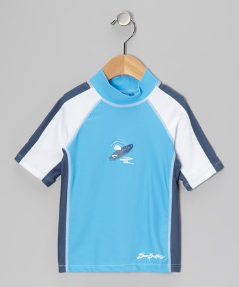 Splash & Blue Short-Sleeve Rashguard - Infant & Boys
