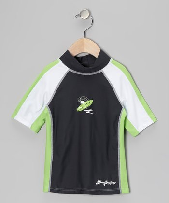 Titanium & Moss Short-Sleeve Rashguard - Infant, Toddler & Boys