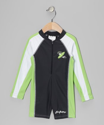 Titanium & Moss Long One-Piece Rashguard - Infant & Boys