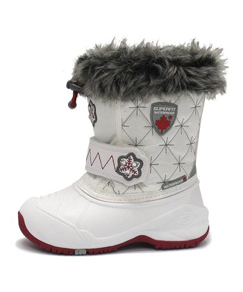 White Kana Faux Fur Snow Boot