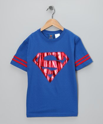 Blue & Red Superman Tee - Kids