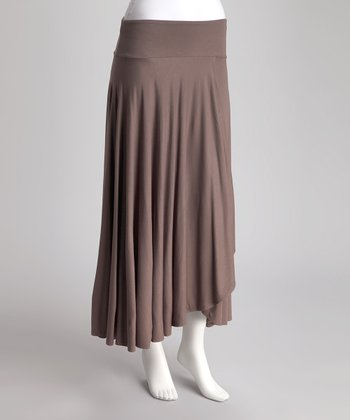 Amaretto Draped Ruffle Skirt
