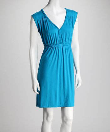 Ocean Blue Braided Sleeveless Dress