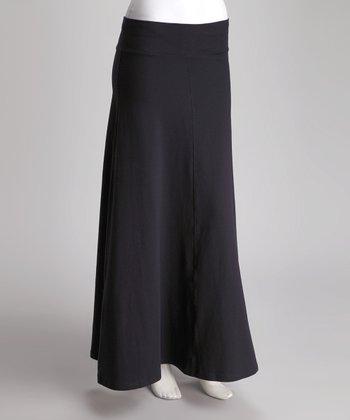 Navy Panel Maxi Skirt