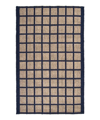 Cobalt & Tan Country Jute Rug