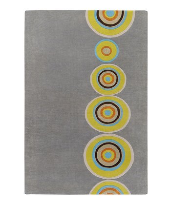 Gray & Green Dazzle Wool Rug
