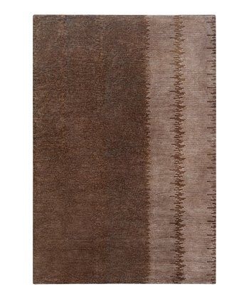 Chocolate & Taupe Wool Dusk Rug