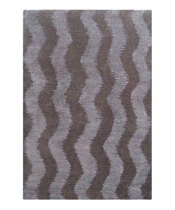 Charcoal & Light Gray Dusk Wool Rug
