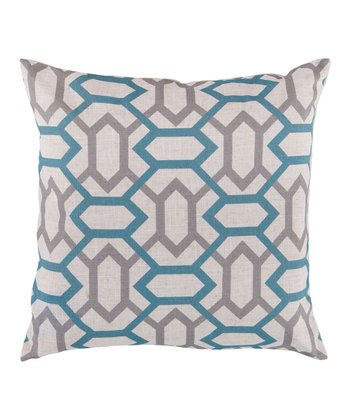 Cameo Blue & Flint Gray Geometric Throw Pillow