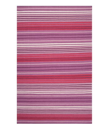 Violet Orchid & Berry Happy Cottage Wool Rug