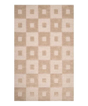 Beige Indus Valley Wool Rug