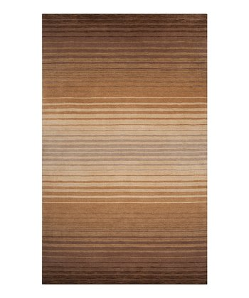 Light Brown & Butter Indus Valley Wool Rug