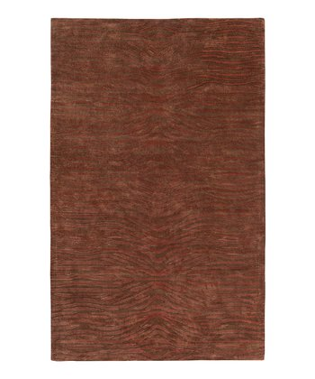 Dark Brown & Rust Kimaya Wool Rug