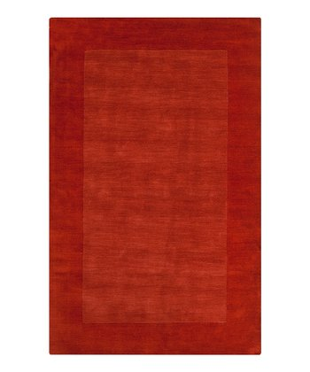 Red-Orange Mystique Wool Rug