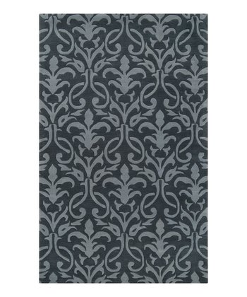 Midnight & Slate Blue Oasis Wool Rug