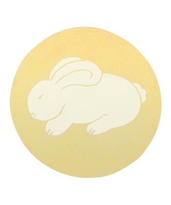 Yellow & White Bunny Rug