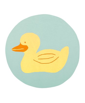 Blue & Yellow Duck Rug