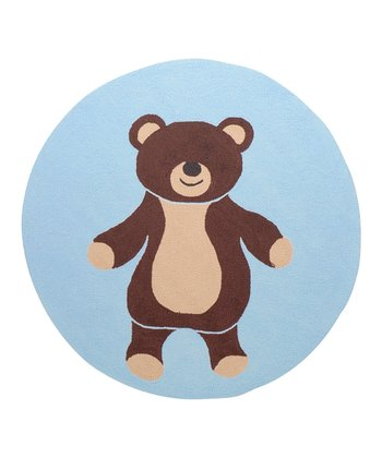 Blue & Brown Bear Rug