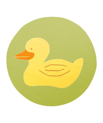 Green & Yellow Duck Rug