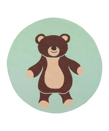 Green & Brown Bear Rug