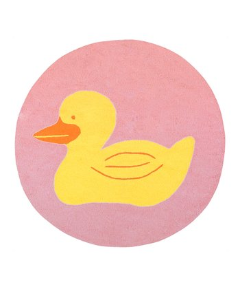 Pink & Yellow Duck Rug