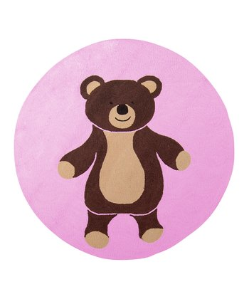 Pink & Brown Bear Rug