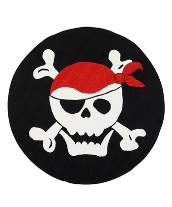 Black & White Pirate Rug